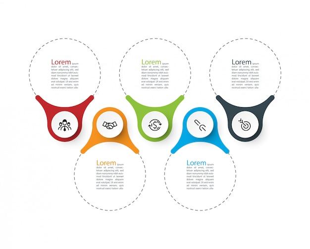 Barra de infografías de anillo.