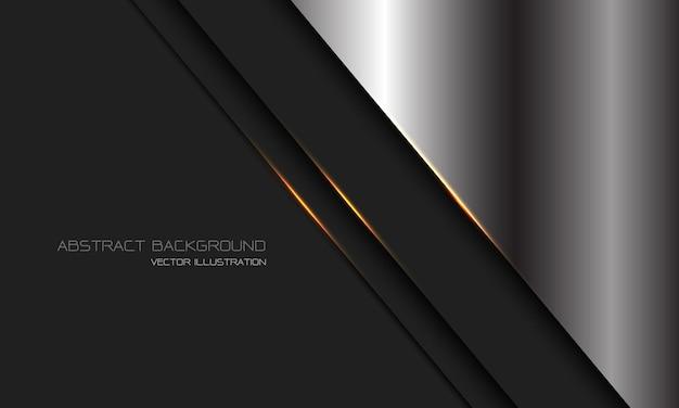 Barra de línea de luz de oro metálico gris oscuro plateado abstracto con diseño de espacio en blanco fondo de tecnología futurista de lujo moderno