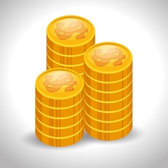 Barra de moneda dinero en efectivo