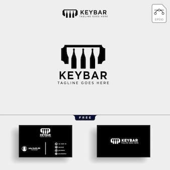Barra de música, ilustración de vector de plantilla de música club café logotipo