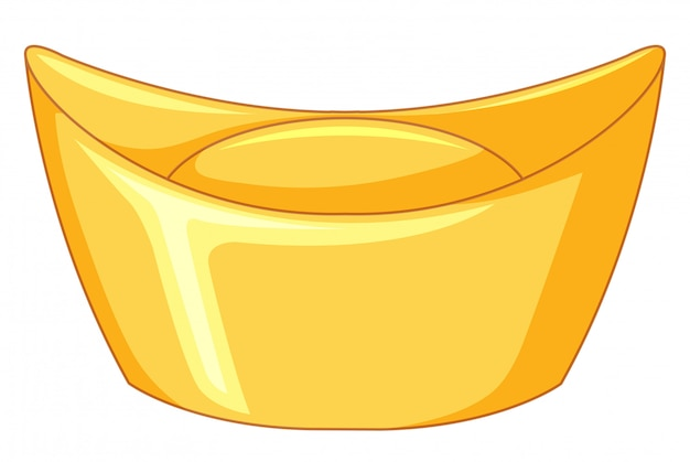 Barra de oro sobre blanco