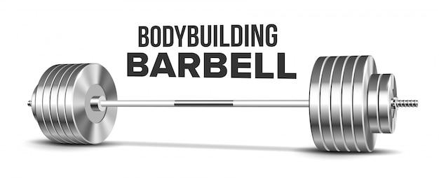 Barra con pesas gimnasio equipamiento deportivo