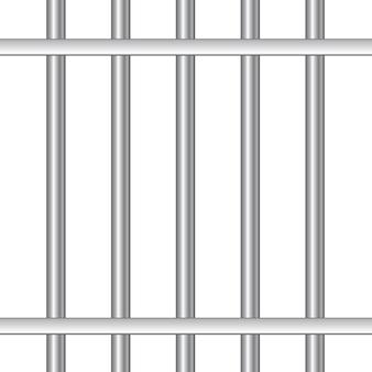 Barras de prisión de acero realistas 3d.