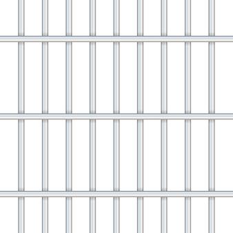Barras de prisión aisladas en transparente. camino a la libertad. ilustración.