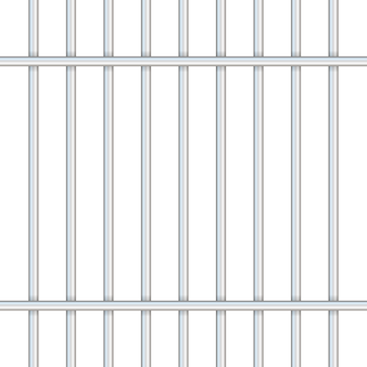 Barras de prisión aisladas en transparente.