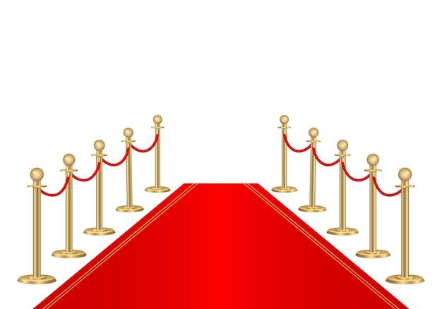 Barreras de alfombra roja y camino