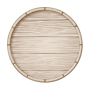 Barril de madera con espacio de copia