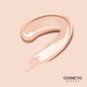 Base de maquillaje de color crema untada para un uso eficaz