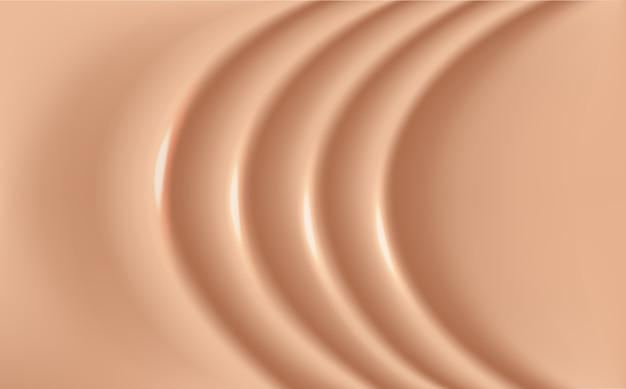 Base de maquillaje que se extiende sobre el fondo de la superficie
