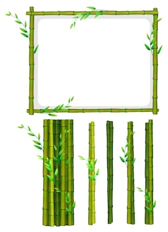 Bastidor de bambú y palos de bambú