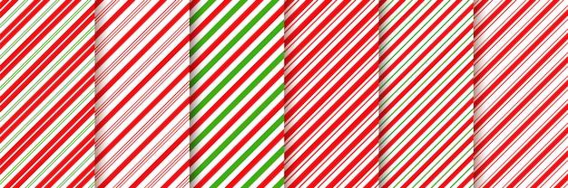 Bastón de caramelo sin patrón. ilustración verde rojo.