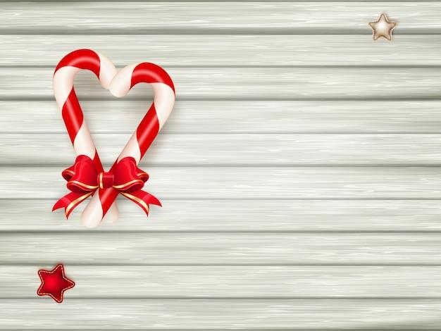 Bastones de caramelo de navidad.