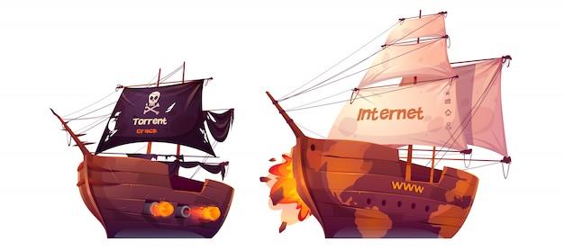 Batalla entre torrent e internet, pelea marina