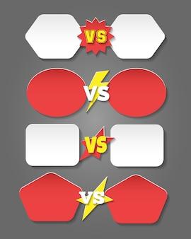 Batalla versus etiquetas en estilo plano