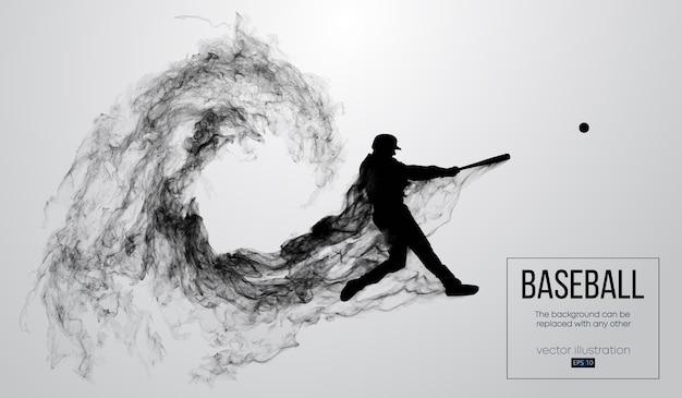 El bateador del jugador de béisbol golpea la bola. el fondo se puede cambiar a cualquier otro