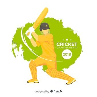 Bateador jugando al cricket