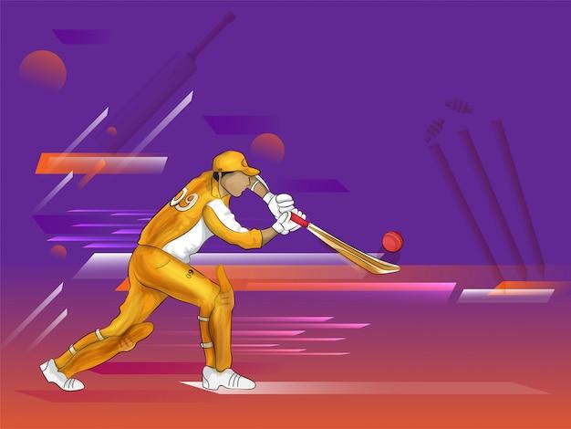 Bateador en jugar acción