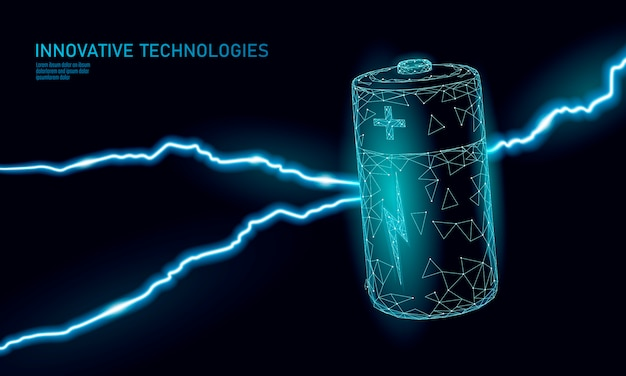 Batería alcalina poligonal cargada. energía energía trabajo. situación de amenaza peligrosa.