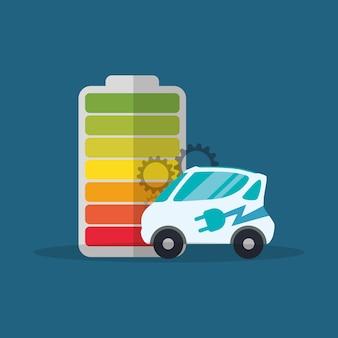 Batería eléctrica del coche ecología