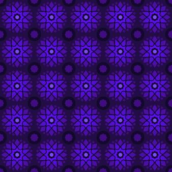 Batik clásico sin fisuras de fondo. fondo de pantalla de mandala geométrico de lujo. elegante motivo floral tradicional en color morado