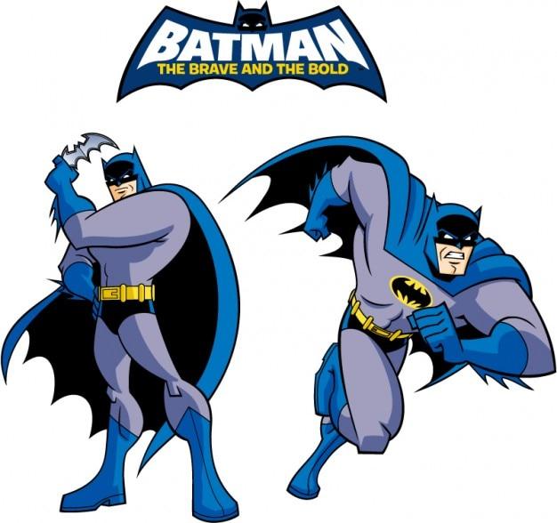 Batman logo clásico vector de la historieta del estilo