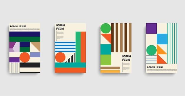 Bauhaus en estilo moderno sobre fondo de semitono