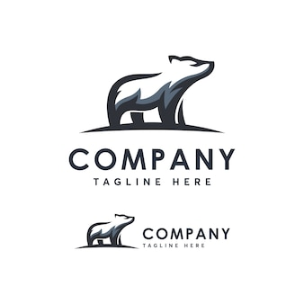 Bear logo template ilustration icon
