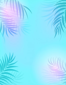 Beautifil palmera hoja silueta fondo