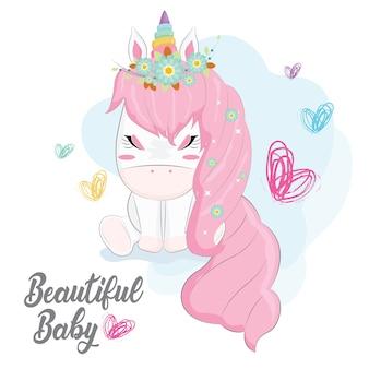 Beautiful baby unicorn