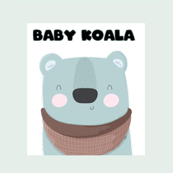 Bebé animal koala lindo