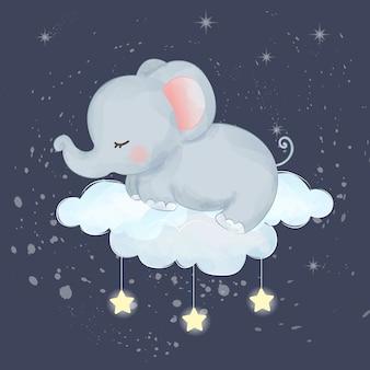 Bebé elefante durmiendo