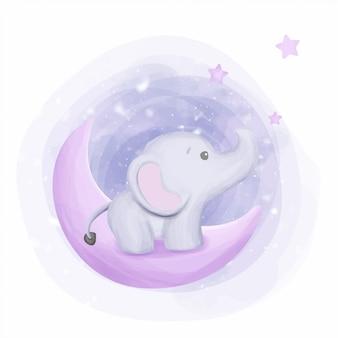 Bebé elefante llegar a las estrellas