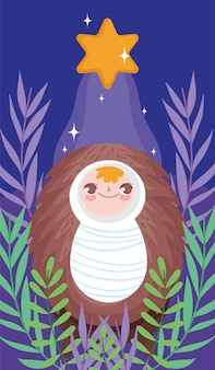 Bebé jesús natividad feliz feliz navidad