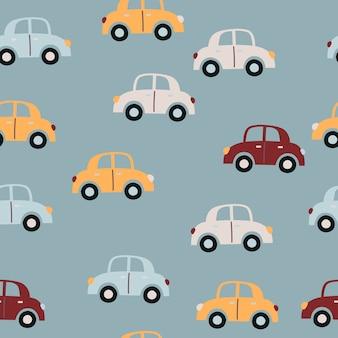 Bebé de patrones sin fisuras con coches