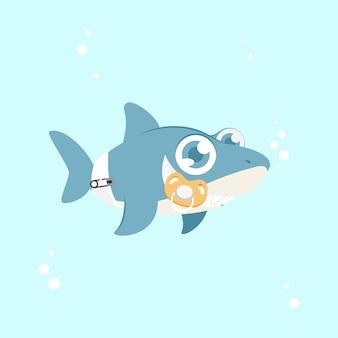 Bebé tiburón con ojos azules