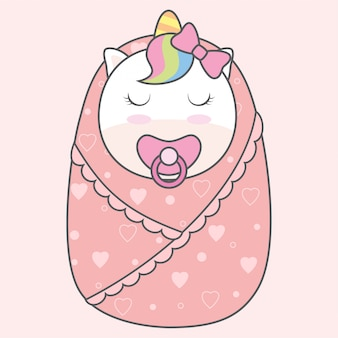Bebé unicornio nacido