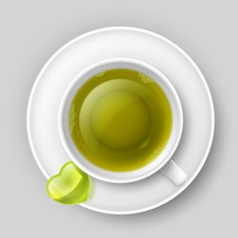 Beber té romántico