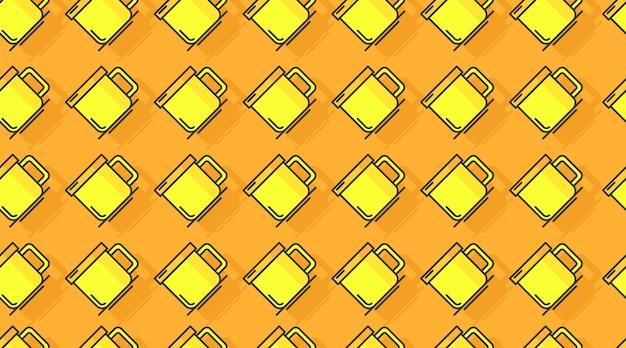 Beber vector de fondo de patrones sin fisuras
