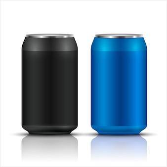 Bebida de aluminio puede juego de envases en blanco
