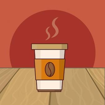 Bebida caliente de dibujos animados