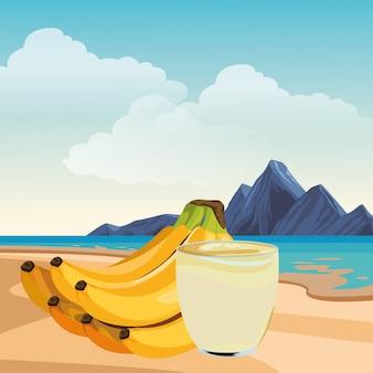 Bebida de frutas tropicales y batidos.