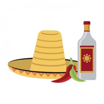 Bebida mexicana de tequila