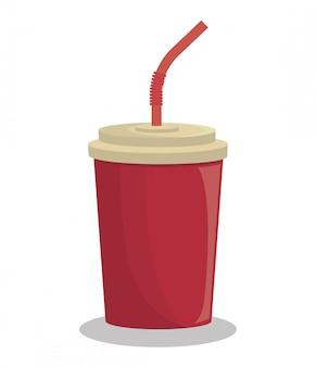 Bebida soda bebida aislado