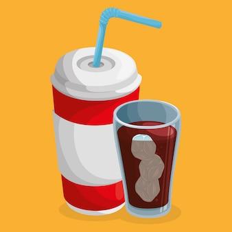 Bebida de vasos de soda