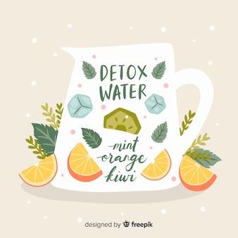 Bebida veraniega refrescante dibujada