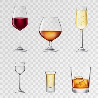 Bebidas alcohólicas transparentes