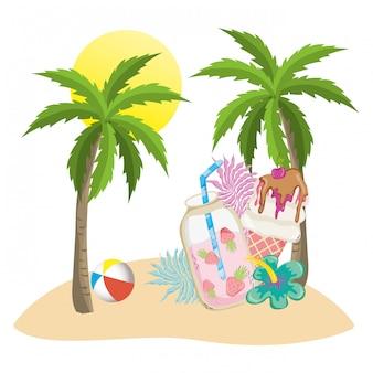 Bebidas tropicales y de verano.