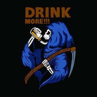 Bebiendo calavera