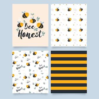 Bee honest - tarjetas y patrones
