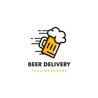 Beer delivery logo icon design